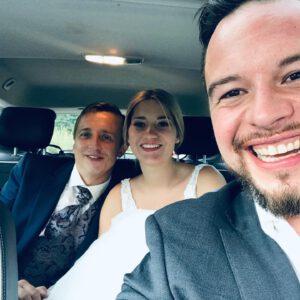 Ich fahre ein Brautpaar