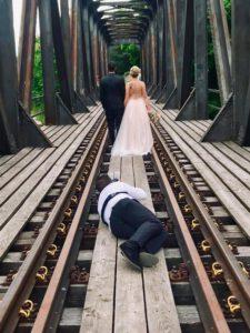 Fotografieren eines Brautpaares