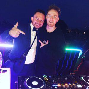Ich mit einem Brautpaar DJ